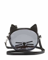 Karl Lagerfeld Girls Transparent Cat Crossbody Bag Black