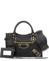 Balenciaga Metallic Edge City Mini Bag Black