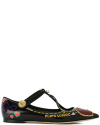 Dolce & Gabbana Bellucci Appliqu Ballerinas