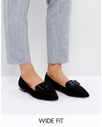 Asos Latter Wide Fit Loafer Ballet Flats