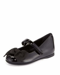 Burberry Trixie Patent Leather Mary Jane Flat Black Toddler Sizes 7 10