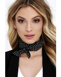 Trend Spotting Black And White Polka Dot Bandana