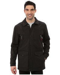 Solid black softshell barn jacket medium 1157279