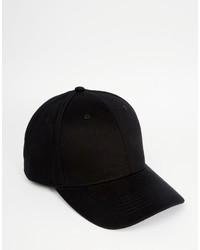 Asos Baseball Cap In Black