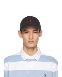Polo Ralph Lauren Black Cotton Chino Ball Cap
