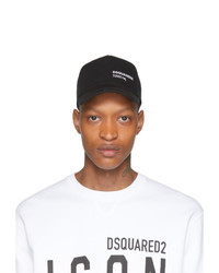 DSQUARED2 Black D2000 Mg Baseball Cap