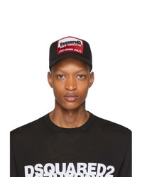 DSQUARED2 Black Distressed Born In Canada Baseball Cap