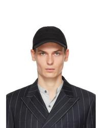Giorgio Armani Black Embroidered Cap