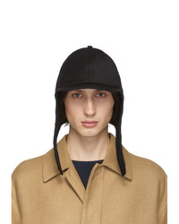 Valentino Black Garavani Wool Embroidered Cap