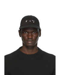 Off-White Black New Logo Ripped Baseball Cap