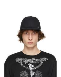 Givenchy Black Padlock Flat Cap