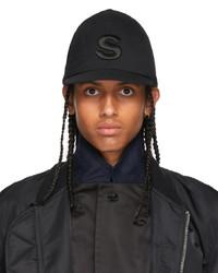 Sacai Black S Logo Cap