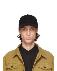 Saint Laurent Black Suede Cap