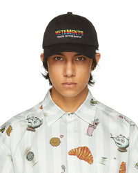 Vetements Black Think Differently Cap