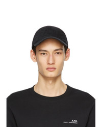A.P.C. Black Washed Charlie Cap