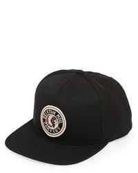 Brixton Rival Snapback Cap Black