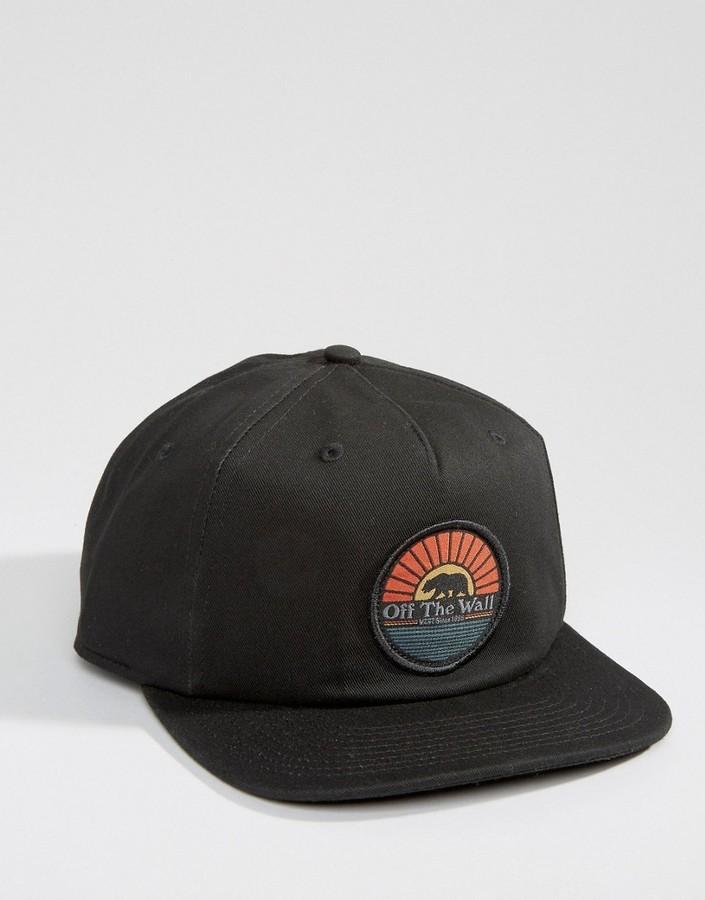 6b67082ed88 ... Caps Vans Calibear Snapback In Black Va2wocblk ...