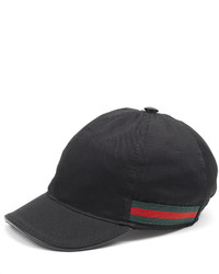 Gucci Cotton Baseball Cap Black