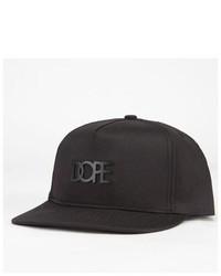 DOPE Matte Black Logo Snapback Hat