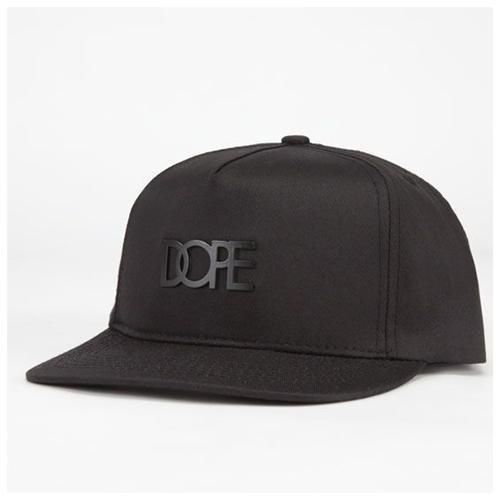 DOPE Matte Black Logo Snapback Hat 85ce51a7f45
