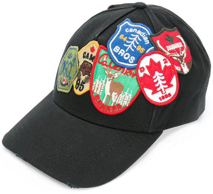 DSQUARED2 Dsquared2 patch embroidered baseball cap   Where to buy ... 3655e8237df3