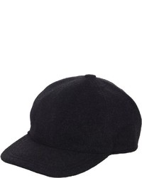 Barneys New York Felted Baseball Cap Black