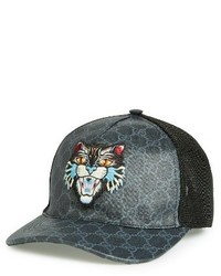 33cb73e715a4d0 Men's Black Baseball Caps by Gucci | Men's Fashion | Lookastic.com