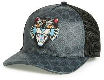 ... Gucci Gg Supreme Angry Cat Trucker Hat Black ... 16212f63fe9