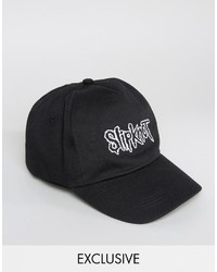 Reclaimed Vintage Inspired Baseball Cap With Slipknot Embroidery