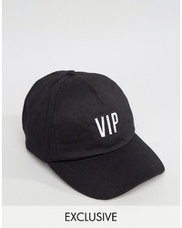 Reclaimed Vintage Inspired Baseball Cap With Vip Embroidery