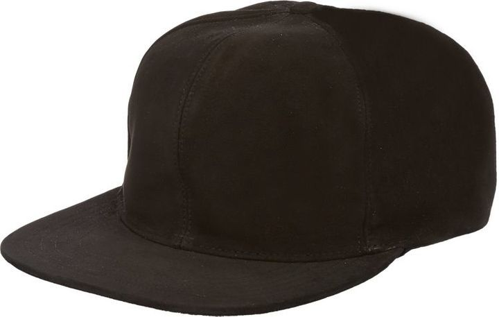... Just Don Suede Baseball Cap Black 19c009a03539
