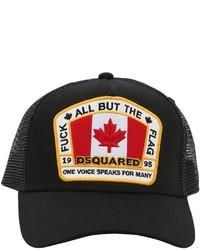 DSQUARED2 Logo Patch Canvas Mesh Trucker Hat
