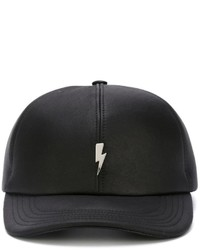 Neil Barrett Lightning Bolt Plaque Cap