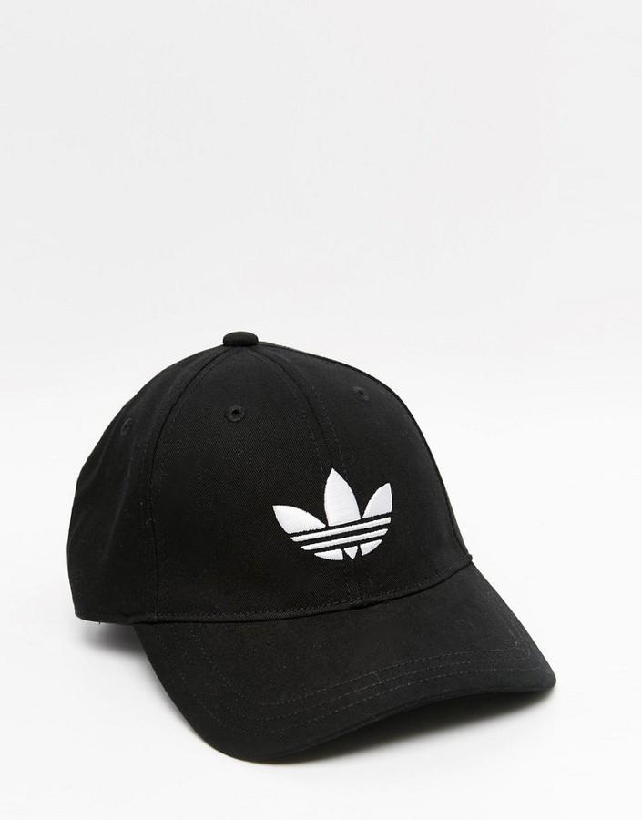 0b119ce0233 ... adidas Originals Trefoil Cap In Black ...