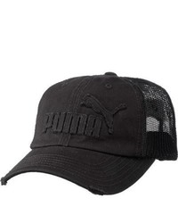 Puma Frat Tuck Washed Mesh Snapback Black Baseball Caps