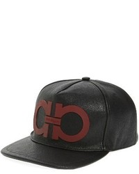 Salvatore Ferragamo Double Gancio Baseball Cap Black