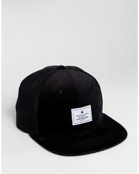 Asos Snapback Cap In Black Cord