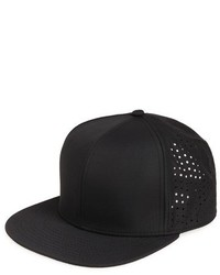 Topman Tech Snapback Cap Black