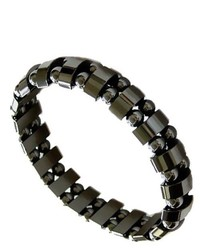 Accents Kingdom Magnetic Hematite Dual Strand Beaded Fashion Bracelet 85