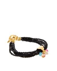 Adele Marie Multi Row Beaded Bracelet With Jewel Charm Clasp