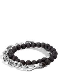 John Hardy Batu Double Wrap Bead Bracelet Black