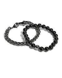 GUESS Black Bead Bracelet Set