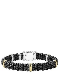 Black caviar rope bracelet medium 1127748