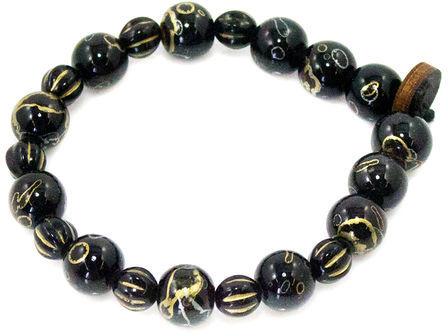 Goodwood The Qantir Bracelet In Black And Gold