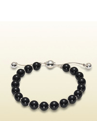 Gucci Bracelet With Black Wooden Beads