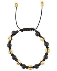 John Brevard Ortho Diamond And Onyx Bead Bracelet