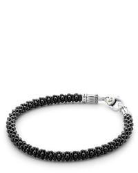 Lagos Black White Caviar Bracelet