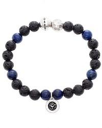 Steve Madden Lapis Lazuli Lava Rock Bead Bracelet