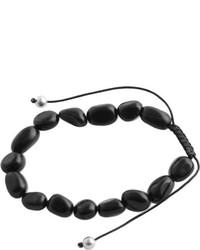 Barse Silver Overlayonyx Bead Bracelet Modeb08blk
