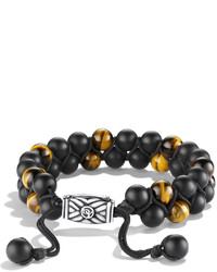 David Yurman Spiritual Beads Bracelet With Black Onyx And Tigers Eye